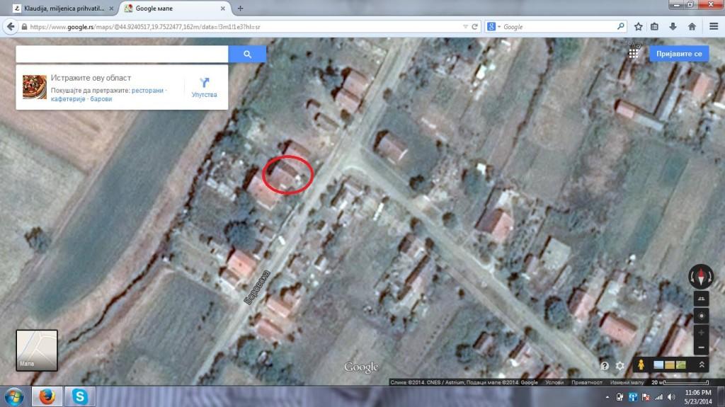 Ova kuća se ne nalazi na obali Save.  Jedina opasnost je bila od kanala Kudoš, koji nije bio pretnja.