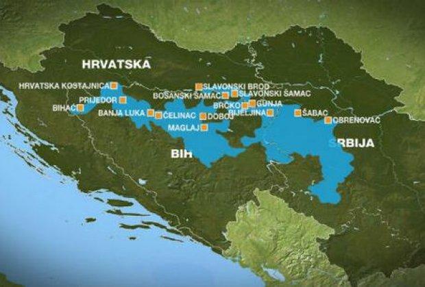 mapa poplavljenih regiona