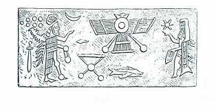 Sumersko pismo je prvobitno poniklo od crteža; pritom su pojedini slikovni znaci služili za oznaku očigledno prikazanih reči.
